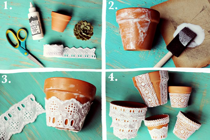 Decorarea ghivecelor, Foto: dicartesanato.blogspot.com