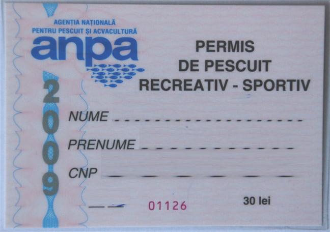 Permisul de pescuit Foto: www.info-delta.ro