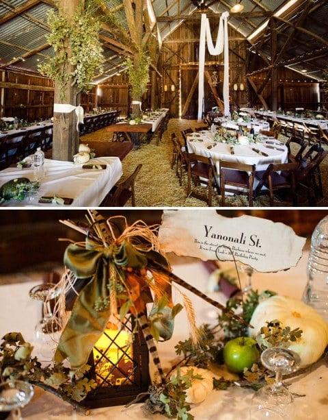 Decoratiuni pentru o nunta in hambar