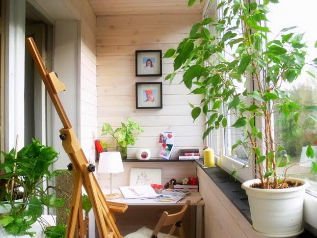 Amenajarea biroului in balcon, Foto: shyshova-design.blogspot.com