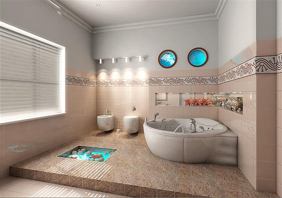 Decorarea peretilor din baie, Foto: decorideaz.com
