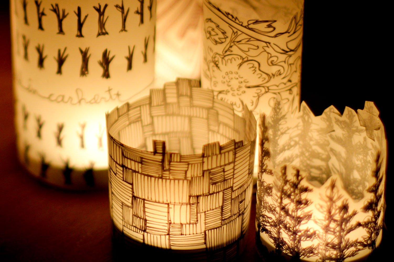 Lampi din hartie Foto: craftedincarhartt.wordpress.com