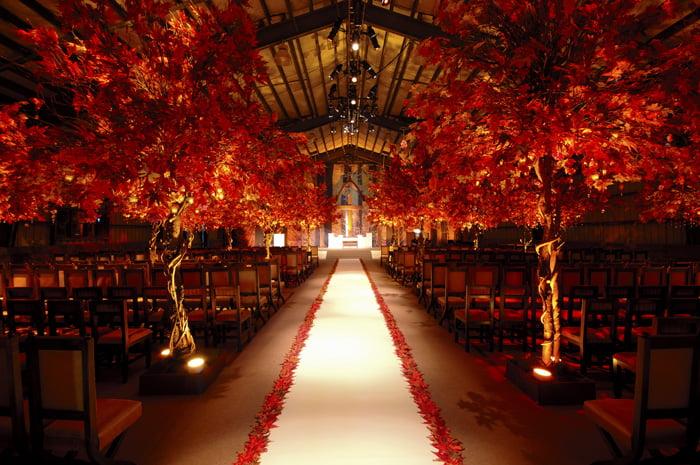 Cea mai frumoasa nunta cu tematica toamnei, Foto: unassvadba.ru