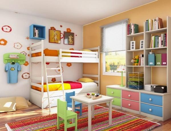 Pat supraetajat pentru camera celor mici Sursa foto: decorationideas.wordpress.com