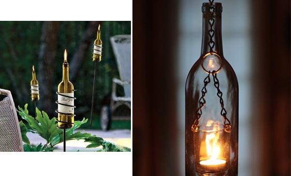 Sticle decorative pentru iluminarea gradinii Foto: www.interiorholic.com