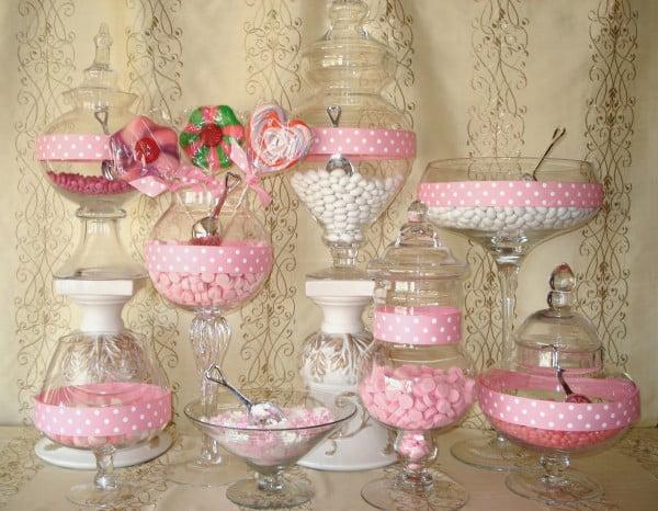 Candy bar pentru nunta Foto: www.onestopwedding.info