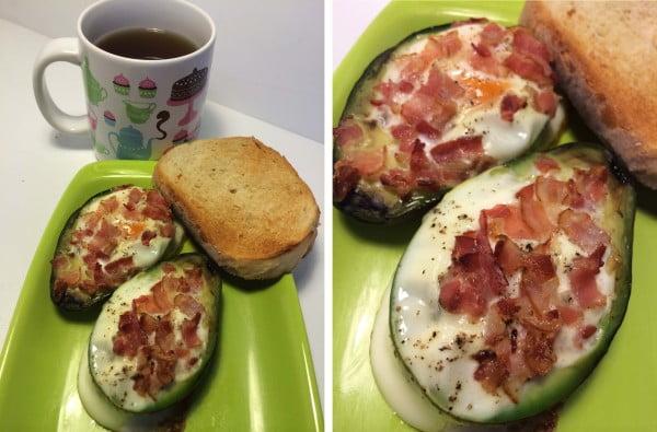 Mic dejun avocado cu oua