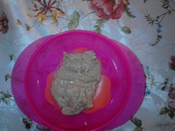 Piure de cartofi cu ficatel de pui - o mancare delicioasa pentru bebe