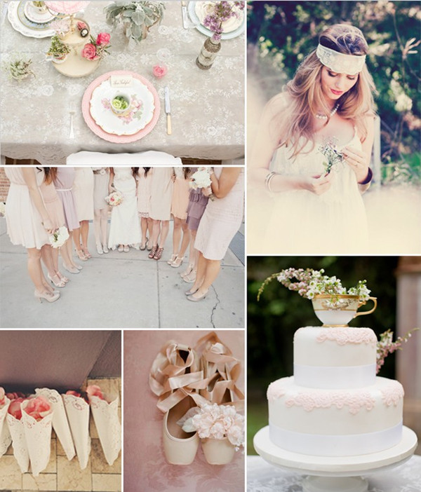 Dantela - element central al nuntii anului 2014 Sursa foto: www.elegantweddinginvites.com