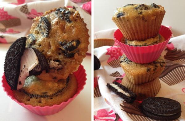 Muffin cu biscuiti Oreo - meniu pentru copii si nu numai