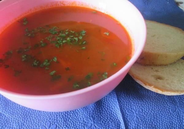 Ciorba de somon cu legume