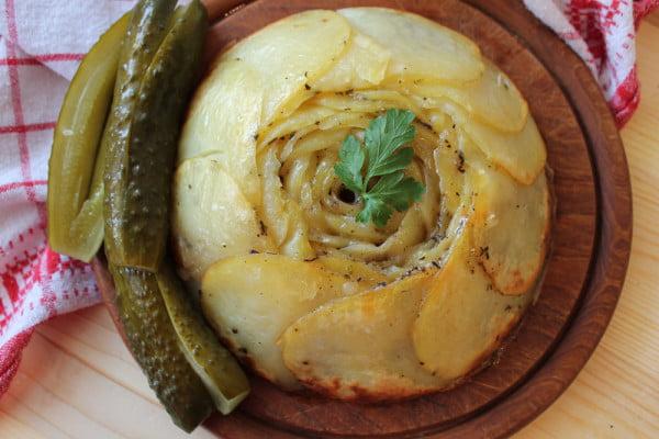 Cartofi Pommes Anna - garnitura frantuzeasca