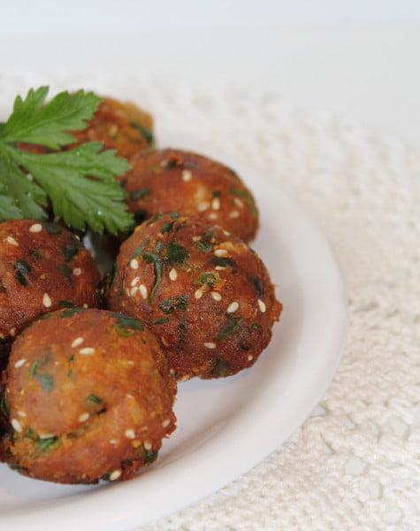 Falafel -aperitiv chiftele vegetariene de naut