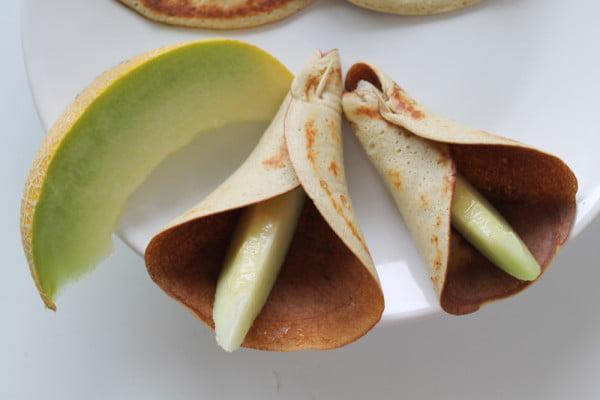Clatite cu piure de banana