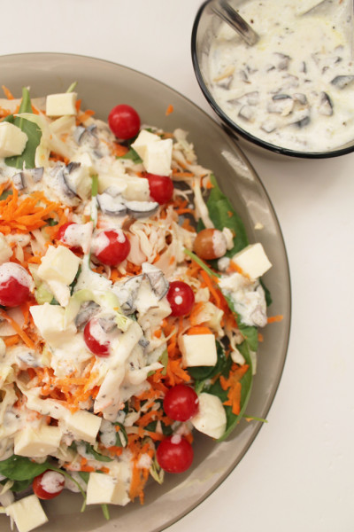 Salata de cruditati cu mozzarella