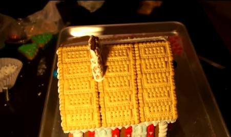 Aplicare biscuiți și horn pe acoperiș