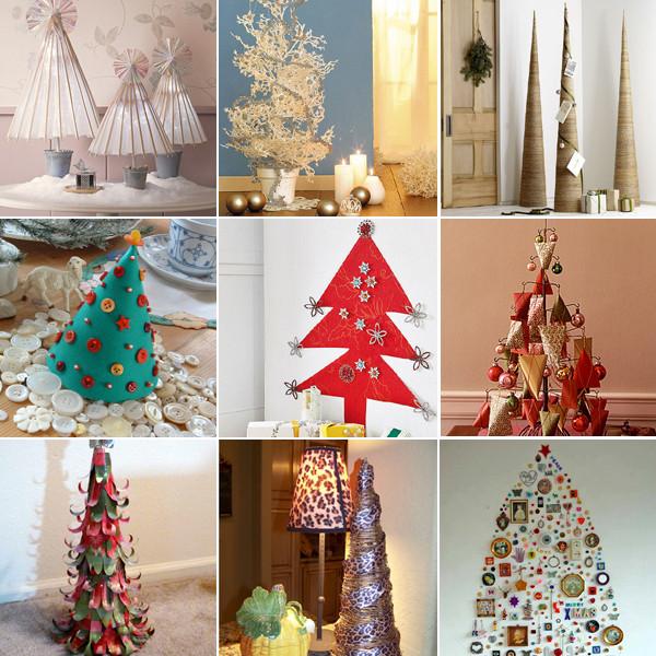 Brazi din diferite materiale pentru Crăciun, Foto: design-remont.info