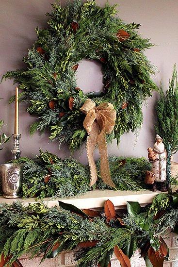 Coroană din crenguțe de brad, Foto: thepolohouse.blogspot.ro
