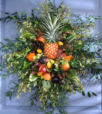 Coroană cu fructe, Foto: thepolohouse.blogspot.ro