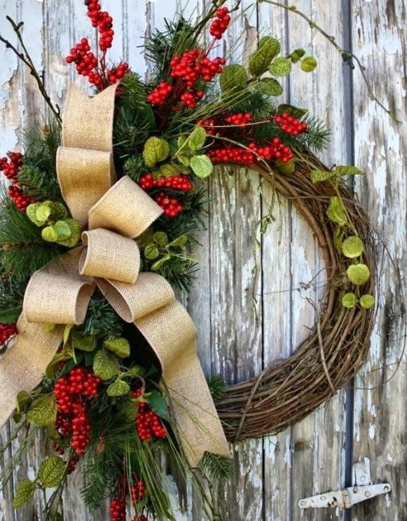Coroană de Crăciun simplu de realizat, Foto: leopardmartini.com