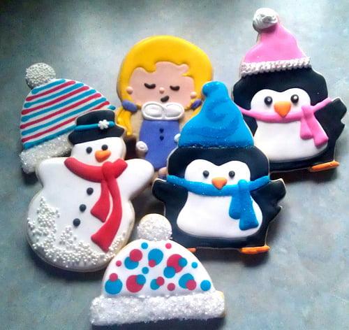 Fursecuri în formă de pinguini și om de zăpadă, Foto: bigfatcook.com