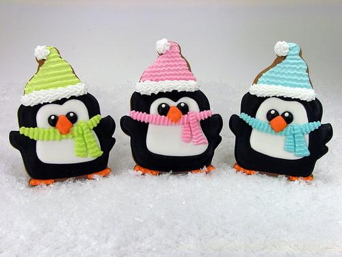 Fursecuri în fromă de pinguini, Foto: bigfatcook.com
