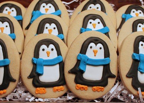 Fursecuri ornate cu pinguini, Foto: bigfatcook.com