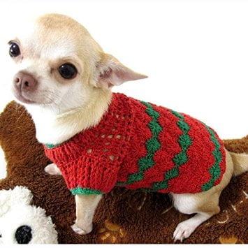 Pulover croșetat pentru câine, Foto: amazon.com