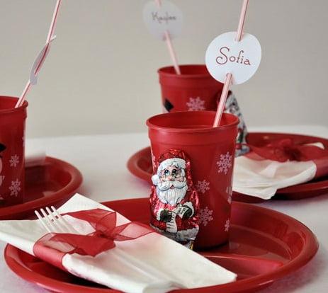 Masa de Crăciun pentru copii, simplu de realizat și necostisitor, Foto: eatwell101.com