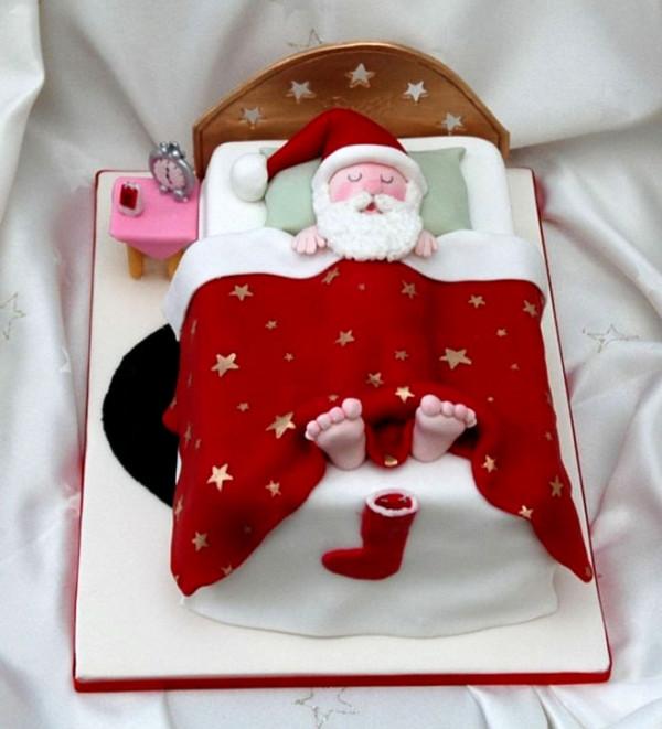 Tort cu Moș Crăciun, Foto: webneel.com
