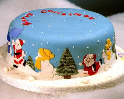 Tort pentru seara de Crăciun, Foto: rainbowsugarcraft.co.uk