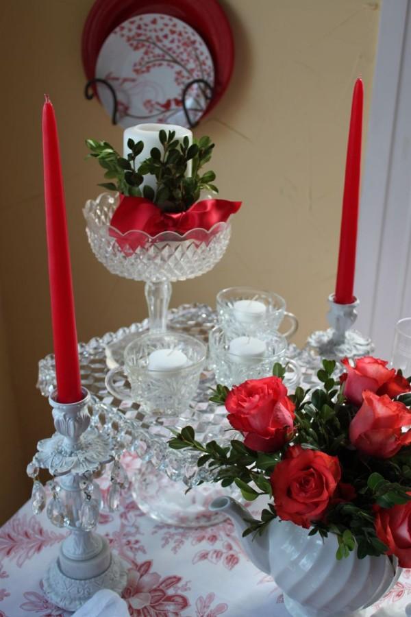 Aranjament deosebit cu flori și lumânări, Foto: opulentcottage.typepad.com