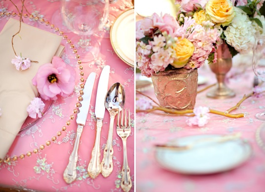 Decor romantic în alb și roz, Foto: weddingchicks.com
