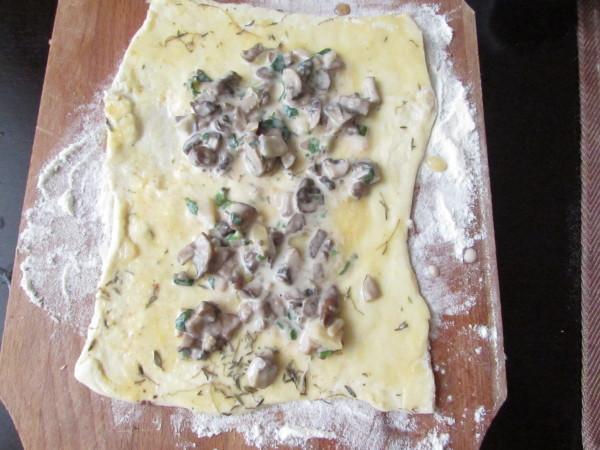Foaie de foitaj cu ciuperci