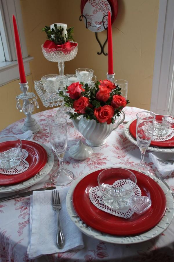 Masa de Ziua Îndrăgostiților, Foto: opulentcottage.typepad.com