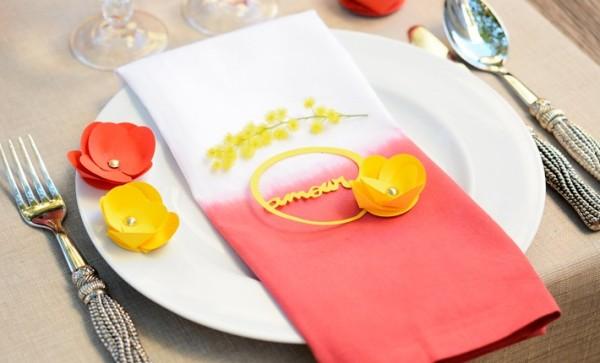 Mod simplu și elegant de aranjare a mesei de Valentine s Day, Foto: madame-citron.fr