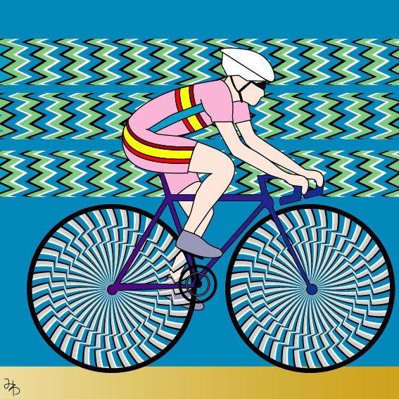 biciclistul in miscare