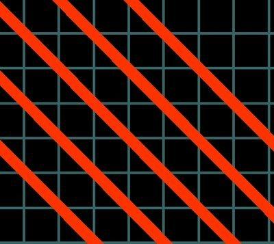 Linii negre imaginare și puncte