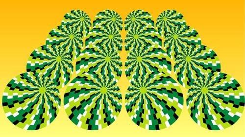 Pepeni verzi care dau impresia că se mișcă