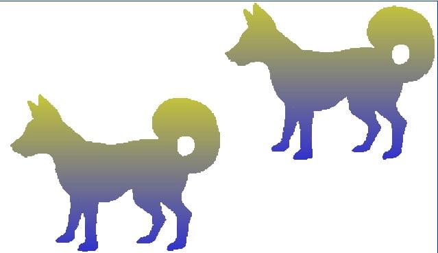 2 câini la fel