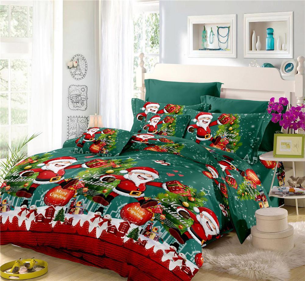 Lenjerie de pat cu tematică de Crăciun