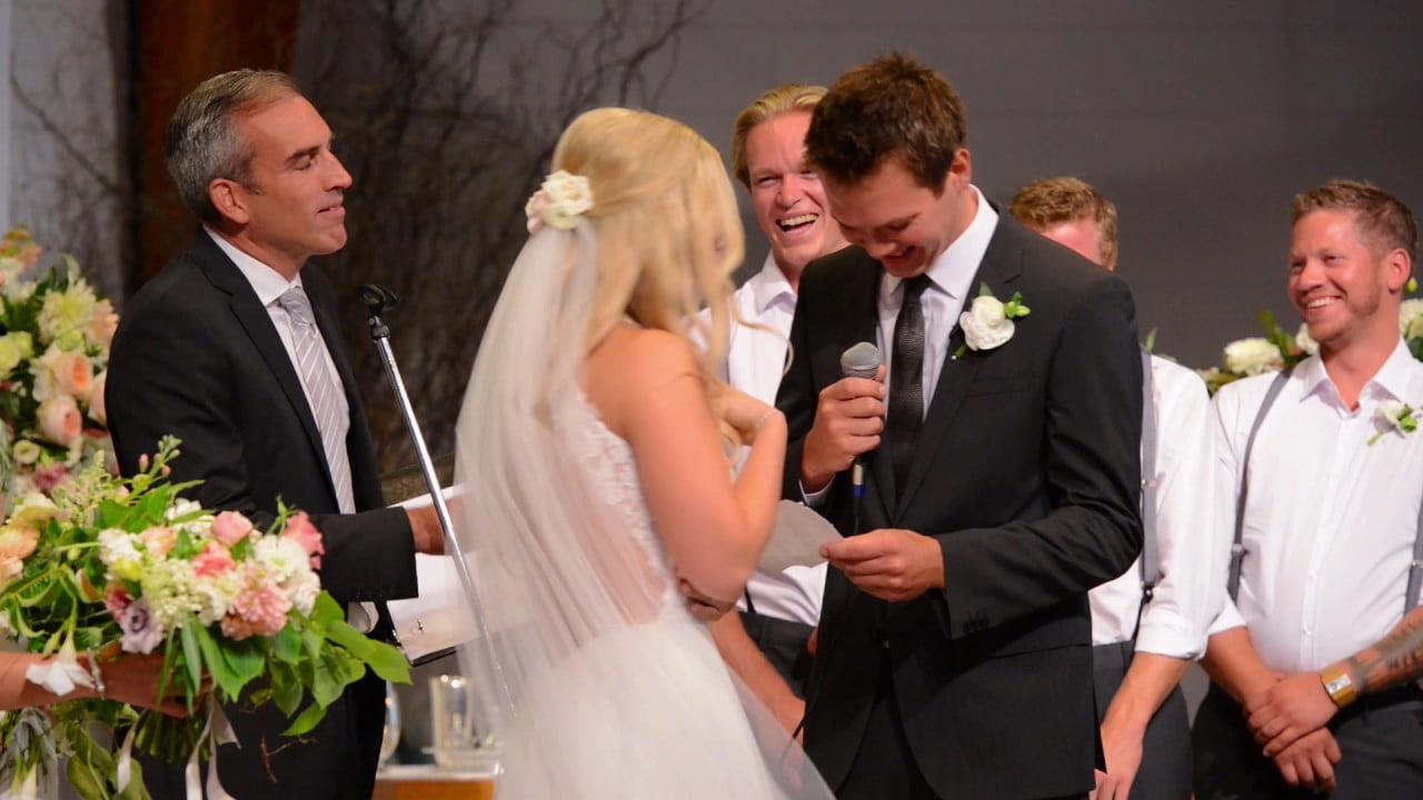 Moment amuzat la nunta