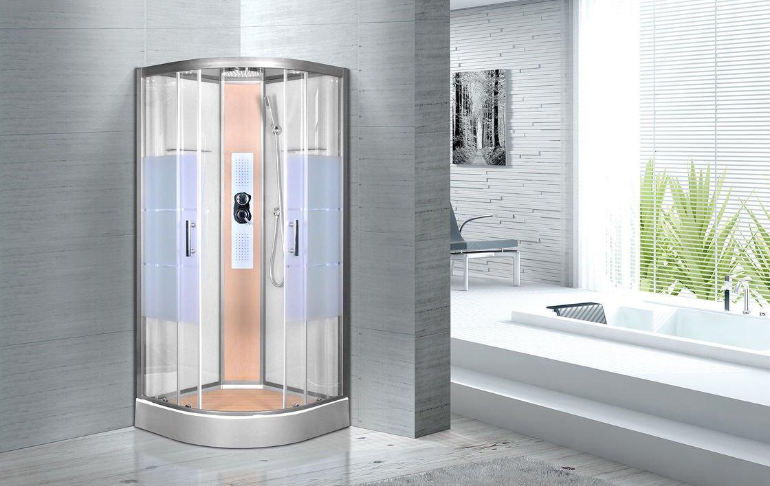 Cabină de duș de colț din sticlă