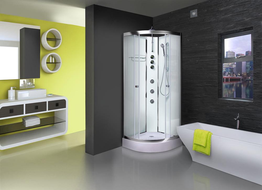 Cabină de duș cu panou de hidromasaj