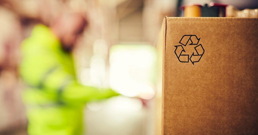 cutie reciclabila pentru transport de marfuri