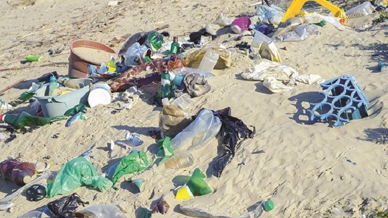 deseuri aruncate pe plaja