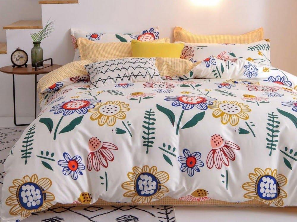 Lenjerie de pat asortată cu husă de plapumă