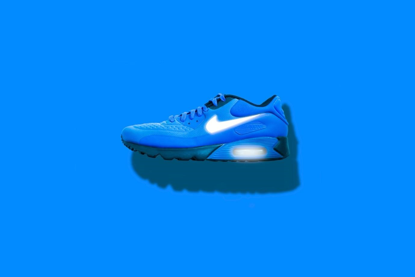 Adidasi Nike albastri